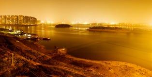 Night scene of city Stock Images