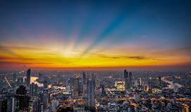 Night scene cityscape stock photography