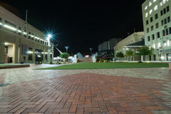 Night scene Civic Square in central Wellington, New Zealand Royalty Free Stock Image