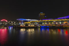 Night scene in Clarke Quay at Singapore Royalty Free Stock Photo