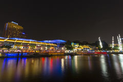 Night scene in Clarke Quay at Singapore Stock Image
