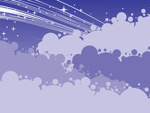 Night scene with cloud and stars Royalty Free Stock Photography