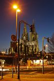 Night scene with Cologne Cathedral Royalty Free Stock Photos