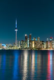 Night scene of downtown Toronto Stock Photo