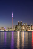 Night scene of downtown Toronto Stock Image