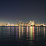 Night scene of downtown Toronto Stock Photos