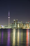 Night scene of downtown Toronto Royalty Free Stock Images