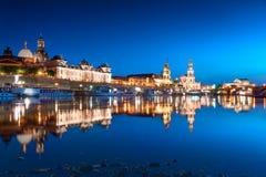 Night scene of Dresden royalty free stock photo