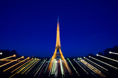 Night scene of eiffel tower Royalty Free Stock Photography