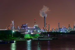 Night scene of Factories Royalty Free Stock Photo