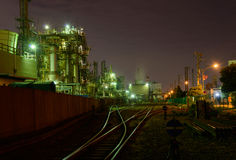 Night scene of Factories Royalty Free Stock Image
