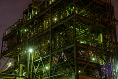 Night scene of Factories Stock Images