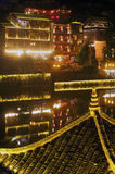 Night scene at Fenghuang ancient city. Stock Photos
