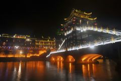 Night scene at Fenghuang ancient city. Stock Photography