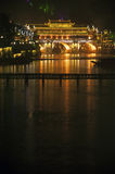 Night scene at Fenghuang ancient city. Royalty Free Stock Image