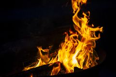 Fire and Flames. Beautiful fire and flames. stock images