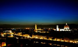 Night scene in Florence city , Italy Stock Image