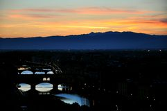 Night scene in Florence city , Italy Royalty Free Stock Photo