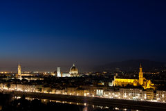 Night scene of florence, italy Royalty Free Stock Photography