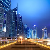 Night scene on the flyover in shanghai Stock Photo