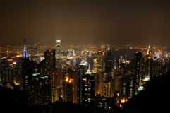 Night scene fo Hong Kong Royalty Free Stock Photography