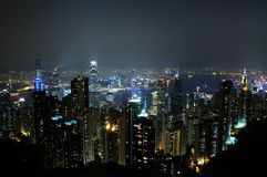 Night scene fo Hong Kong Royalty Free Stock Image