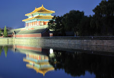 Night scene of forbidden city Stock Images