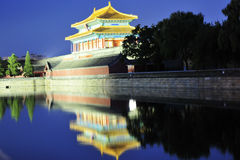 Night scene of forbidden city Stock Image