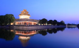 Night scene of Forbidden city China Royalty Free Stock Photo