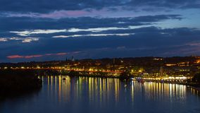 Night scene of Georgetown waterfront in Washington DC, USA. Stock Image