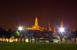 Night scene of the Grand Palace Royalty Free Stock Photography