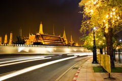 Night scene of the Grand Palace Stock Images