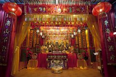 Night scene of a grand taoist temple Royalty Free Stock Photos