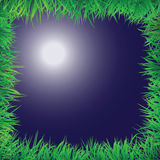 Night scene with grass border Stock Images