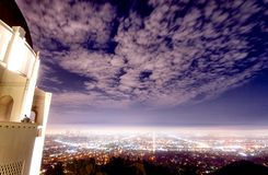Night scene of Griffith Observatory, Los Angeles. Shoot at the top of Griffith mountain, Griffith Observatory Royalty Free Stock Photo