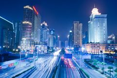 Night scene of Guanghzou city Royalty Free Stock Image