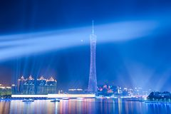 Night scene of Guanghzou city skyline Royalty Free Stock Photography