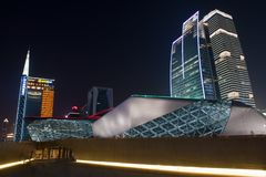 Night scene of Guangzhou Opera Royalty Free Stock Photos