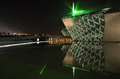 Night scene of Guangzhou Opera Stock Image