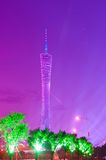 Night scene of Guangzhou tower Royalty Free Stock Photo