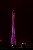 Night scene of Guangzhou TV Tower Royalty Free Stock Photos