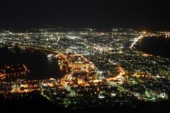 Night scene of the Hakodate Stock Photography