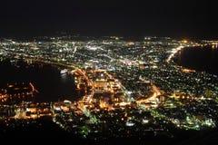 Night scene of the Hakodate Stock Photography