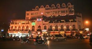 The night scene in hanoi,vietnam Stock Image