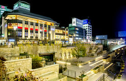Night scene of Himeji streets Stock Photo