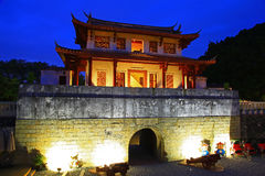 Night Scene of Historic City South Gate Stock Photography