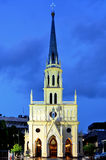 Night scene of Holy Rosary Church building (Gothic architecture style) Stock Images