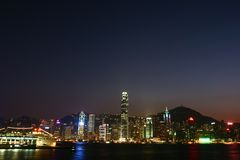 Night scene in Hong Kong Stock Images