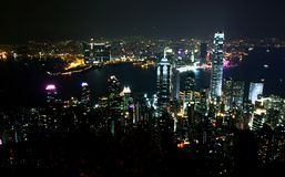 Night scene in Hong Kong Royalty Free Stock Image