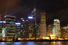 Night scene of Hong Kong Royalty Free Stock Photography